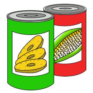 Tinned Fruit & Vegetables 罐頭類